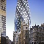 Gherkin-byggnaden i Londons finansdistrikt