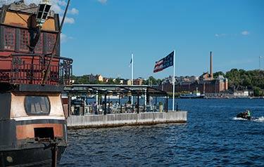 Stockholm med utsikt över havet